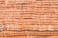 Stack of earthenware roof tile Royalty Free Stock Photo