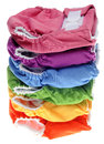 Stack of Eco Friendly Cloth Diapers Royalty Free Stock Photo