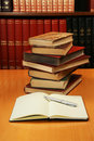 Stack of encyclopedia books Royalty Free Stock Photo