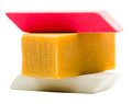 Stack of erasers Royalty Free Stock Images