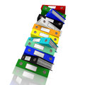 Stack Of Files For Getting Office Organized Royalty Free Stock Photography