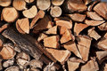 Stack Of Firewood Logs Stock Image