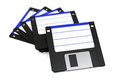 Stack of floppy disks on white d illustration Royalty Free Stock Images