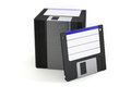 Stack of floppy disks on white d illustration Royalty Free Stock Photos