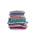 Stack of folded clothes Royalty Free Stock Photo