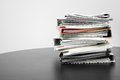 Stack of folders and documents on office table Royalty Free Stock Photo