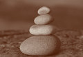 Stack of four stones Royalty Free Stock Photo