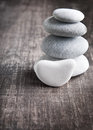A stack of four zen rocks Stock Photo