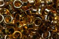 Stack of metal eyelets in close up Royalty Free Stock Photo