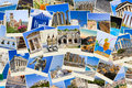 Stack of Greece travel photos Royalty Free Stock Photos