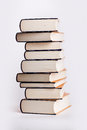 Stack of hardcover books Stock Image