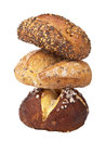 Stack of healthy bread isolated Royalty Free Stock Images