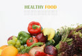 Stack healthy fruit vegetables Royalty Free Stock Image