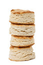 Stack of homemade biscuits four isolated on white Stock Photography