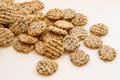 Stack of homemade sesame cookies Stock Photography