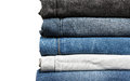 Stack of jeans up-close Royalty Free Stock Photo