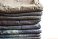 Stack of jeans Royalty Free Stock Photo