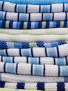 Stack of kitchen towels Royalty Free Stock Photography
