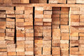 Stack of lumber detail picture Royalty Free Stock Image