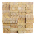 Stack of lumber the wooden material Royalty Free Stock Images