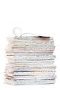Stack of magazines on a white background Stock Photography