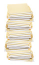 Stack of Manila Folders Royalty Free Stock Photos