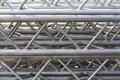 Stack of metal trusses for mounting the stage Royalty Free Stock Photos