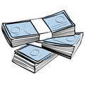 Stack of money vector