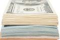 Stack of money american hundred dollar bills Royalty Free Stock Photo