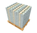 Stack of Money with Wooden Pallet Royalty Free Stock Photo