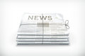 Stack of newspapers Royalty Free Stock Photo