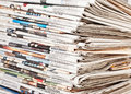 Stack of daily newspapers Royalty Free Stock Photo