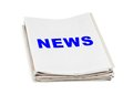 Stack of newspapers News Royalty Free Stock Photo