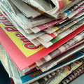 Stack newspapers