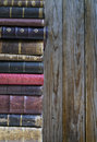 Stack of old books copyspace for your text Stock Images