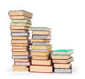 Stack of old books isolated Royalty Free Stock Photo