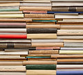Stack old books no labels blank spine Royalty Free Stock Photos