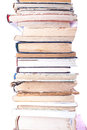 Stack of old books on white background Royalty Free Stock Image