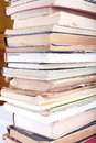 Stack of old books on white background Stock Image