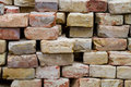 Stack of old bricks grunge Royalty Free Stock Photo
