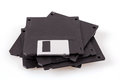 Stack of old diskettes Stock Image