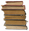 Stack of old ragged Books Royalty Free Stock Images