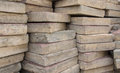 Stack of old used bricks Royalty Free Stock Photo