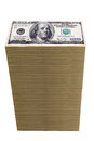 Stack of one hundred dollar bills Stock Photography
