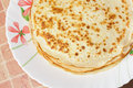 Stack pancakes plate Royalty Free Stock Photography