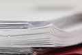 Stack of paper close up a shallow depth field Stock Image
