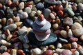 Stack of pebble stones Royalty Free Stock Photo