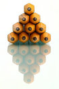 Stack of pencil isolation Royalty Free Stock Image