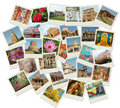 Stack of photo shots with India landmarks Royalty Free Stock Images