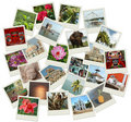 Stack of photo shots with Southern India landmarks Stock Image